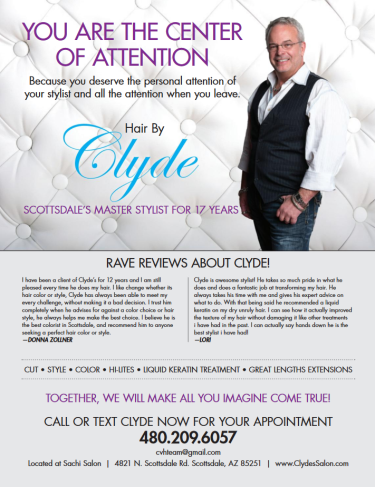 Hairstylist in Scottsdale-- Clyde Hale